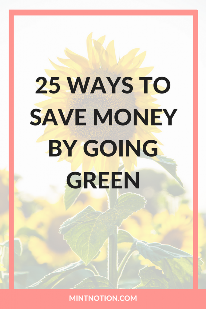 25 Ways To Save Money By Going Green Mint Notion