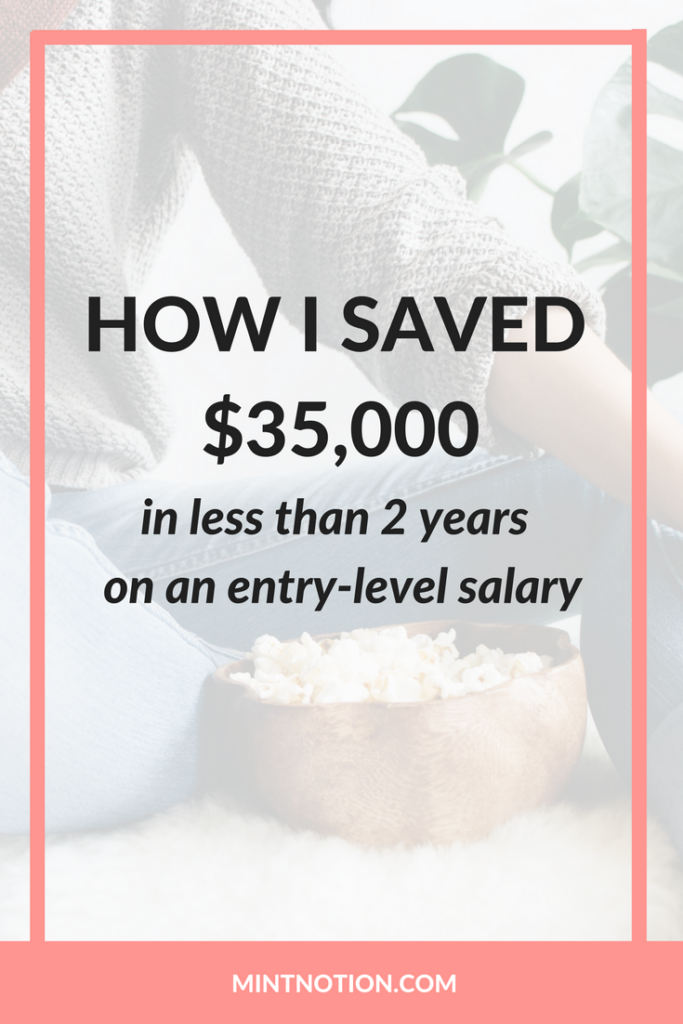 How I saved money on an entry-level salary