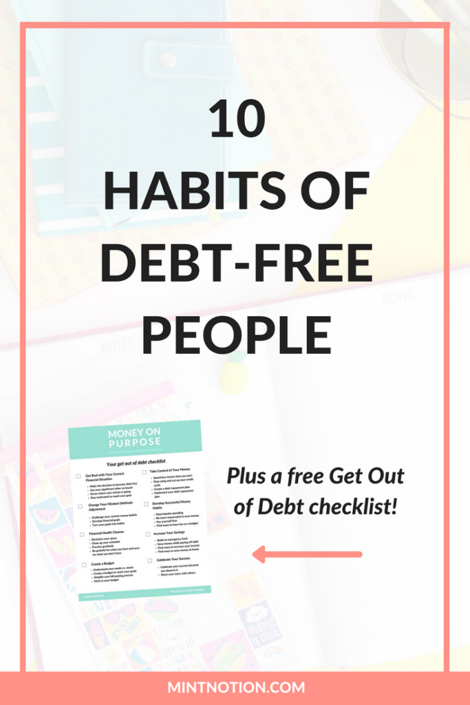 10 Habits of Debt-Free People